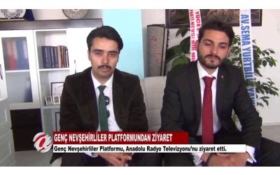 Genç Nevşehirliler Derneği Anadolu Radyo Televizyonunu Ziyaret Etti.