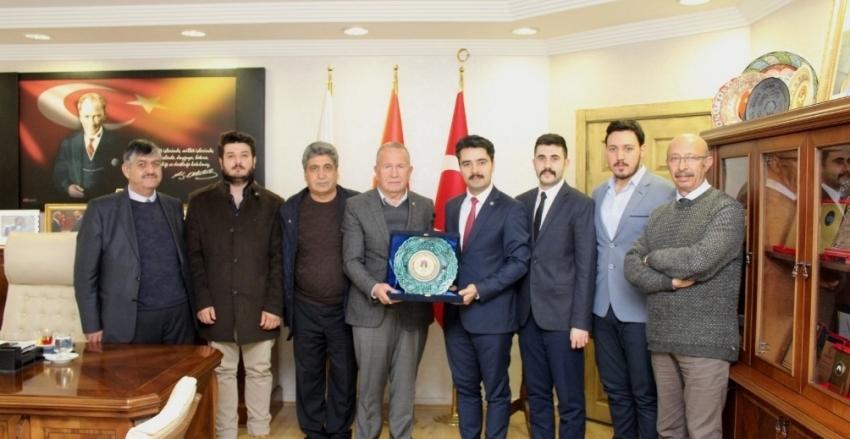Nevşehir Ticaret Borsası Başkanı Sayın İbrahim SALAŞ`ı Ziyaret Ettik