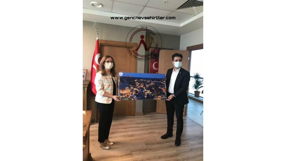 MHP Genel Başkan yardımcısı hemşehrimiz Prof. Dr. Filiz Kılıç\'ı makamında ziyaret.